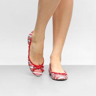 Sapatilha Shoestock Bico Redondo Estampada Feminina