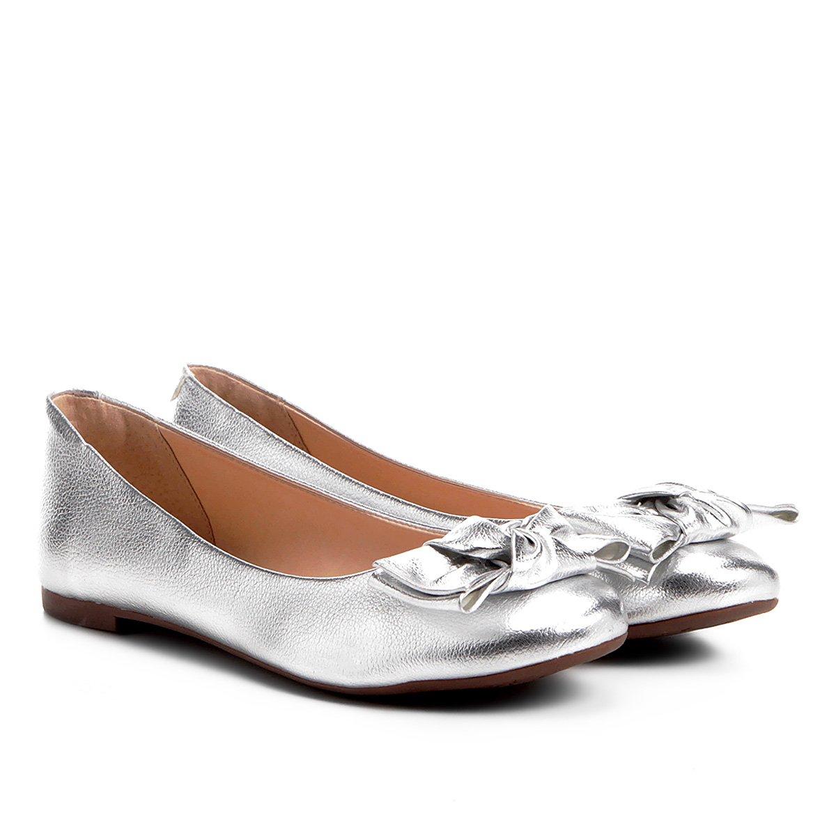 97f54aa8a Sapatilha Shoestock Bico Redondo Laço Feminina | Shoestock