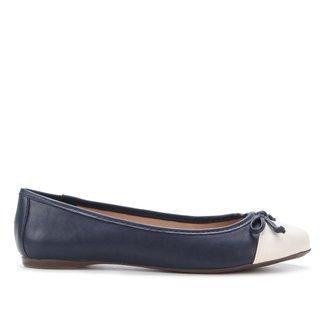 Sapatilha Shoestock Bico Redondo Laço Feminina
