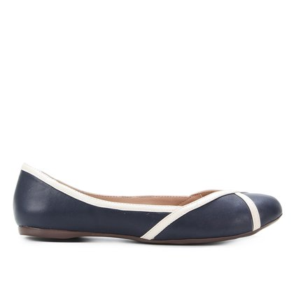 Sapatilha Shoestock Bicolor Bico Redondo Feminina