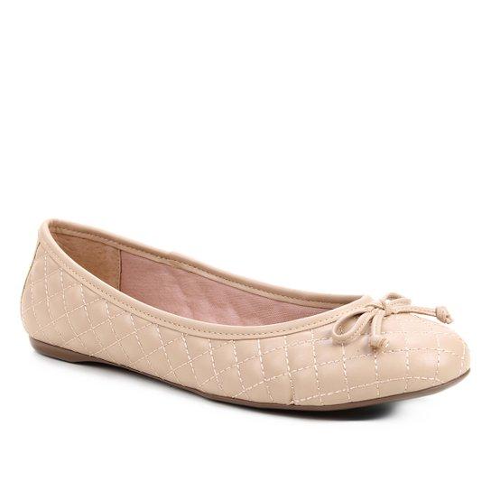 Sapatilha Shoestock Clássica Matelassê Feminina - Nude