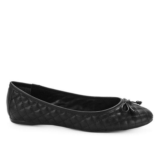 Sapatilha Shoestock Clássica Matelassê Feminina - Preto