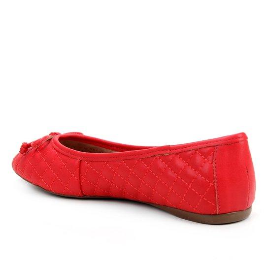 Sapatilha Shoestock Clássica Matelassê Feminina - Vermelho