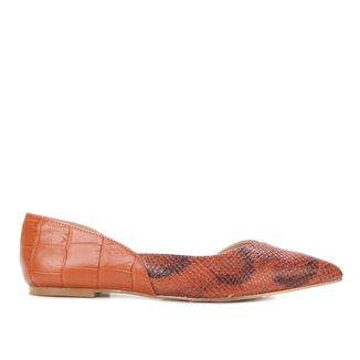 Sapatilha Shoestock Cobra Feeling Bico Fino Feminina
