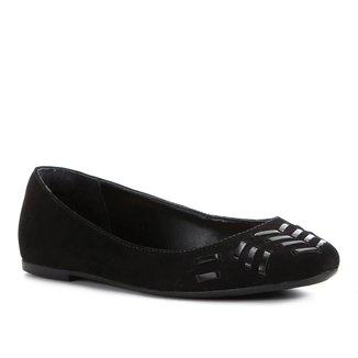 Sapatilha Shoestock Enfiados Couro Camurção