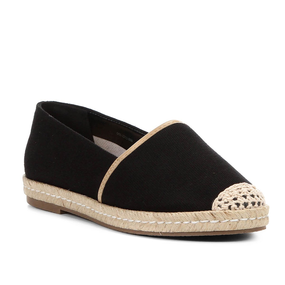 19b8ccbcbb2 Sapatilha Shoestock Espadrille Corda Feminina - Preto - Compre Agora ...