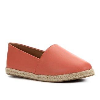 Sapatilha Shoestock Flat Corda Couro