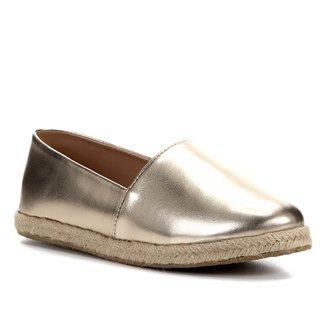 Sapatilha Shoestock Flat Corda Metalizado