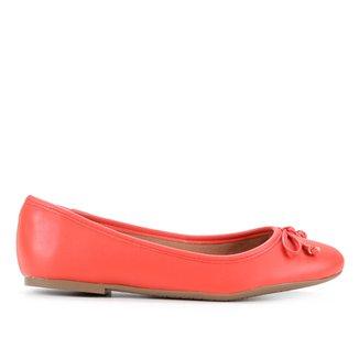 Sapatilha Shoestock Laço Bico Redondo Feminina
