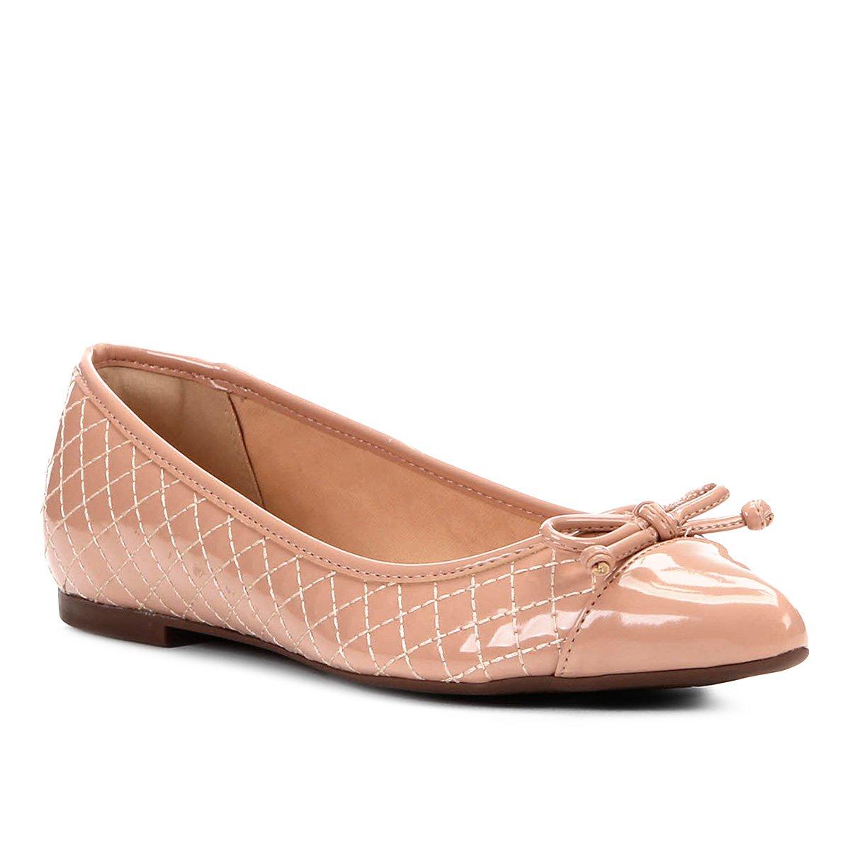 b7eabec1f Sapatilha Shoestock Matelassê Bico Fino Laço Feminina - Rosa Claro |  Shoestock