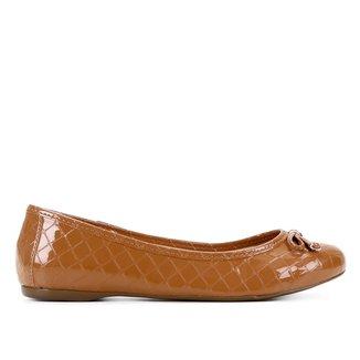 Sapatilha Shoestock Matelassê Verniz Feminina