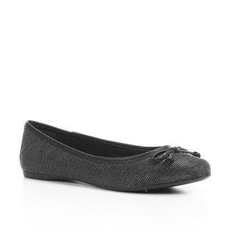 Sapatilha Shoestock Metalizada Laço Feminina