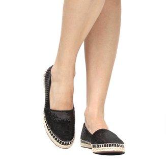 Sapatilha Shoestock Paetê Corda Feminina