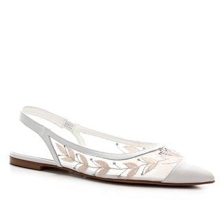 Sapatilha Shoestock Slingback Noiva Feminina