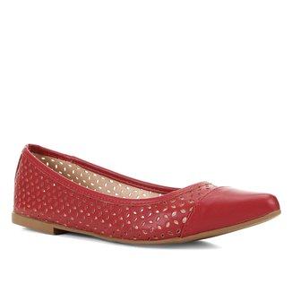 Sapatilha Shoestock Vazada Bico Fino Feminina