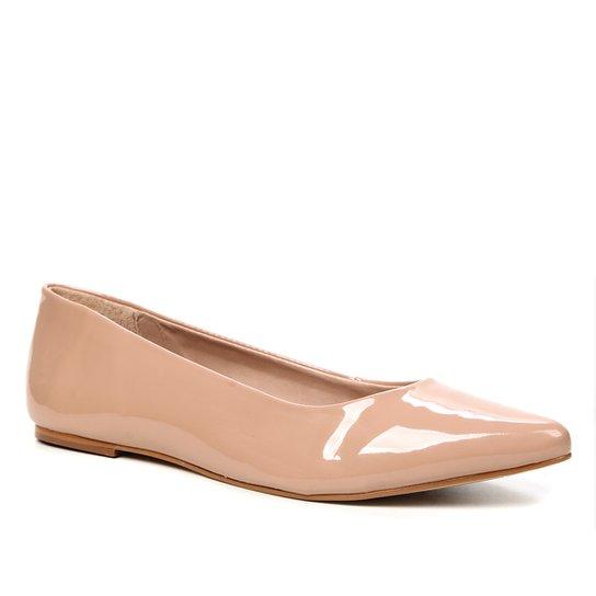 Sapatilha Shoestock Verniz Bico Fino Naked Feminina - Noz