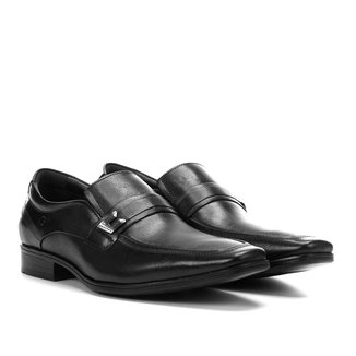 Sapato Casual Couro Democrata Cronos Flex Cushion Fivela