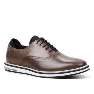 Sapato Casual Couro Shoestock Neoprene Masculino
