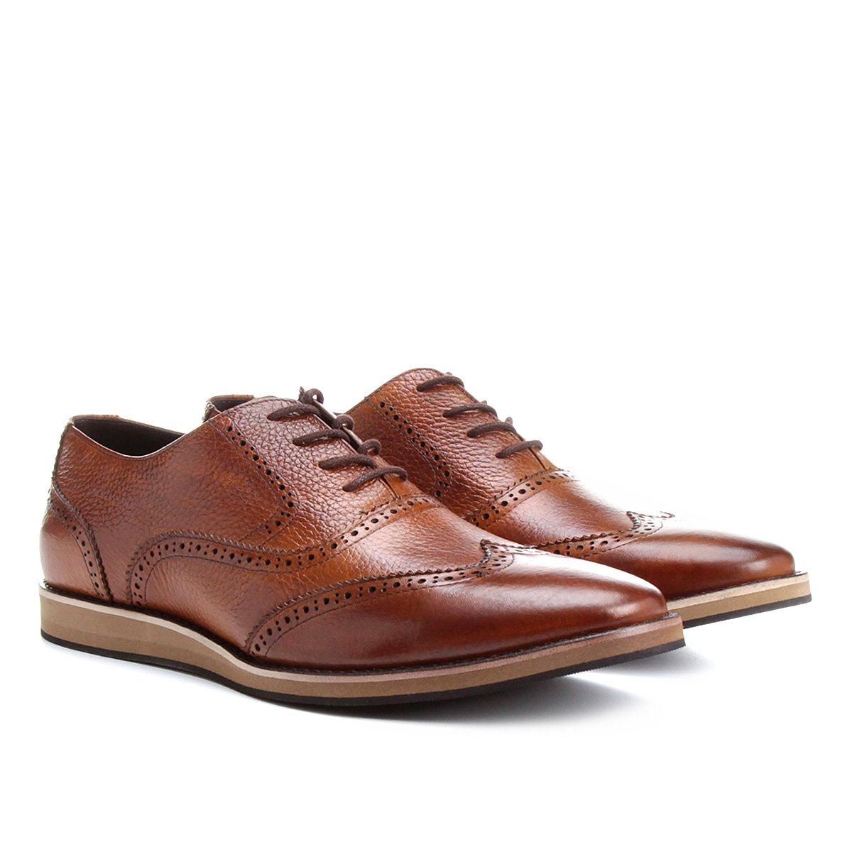 9ca095cfacd Sapato Casual Couro Shoestock Oxford - Compre Agora