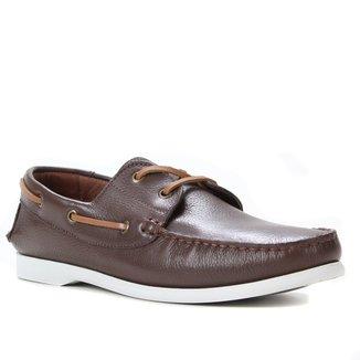 Sapato Casual Couro Shoestock Sider Masculino