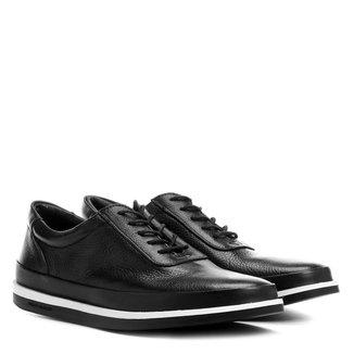 Sapato Casual Couro Shoestock Sola Bicolor