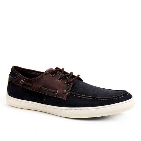 Sapato Casual Shoestock Dockside Stoned Masculino - Marinho