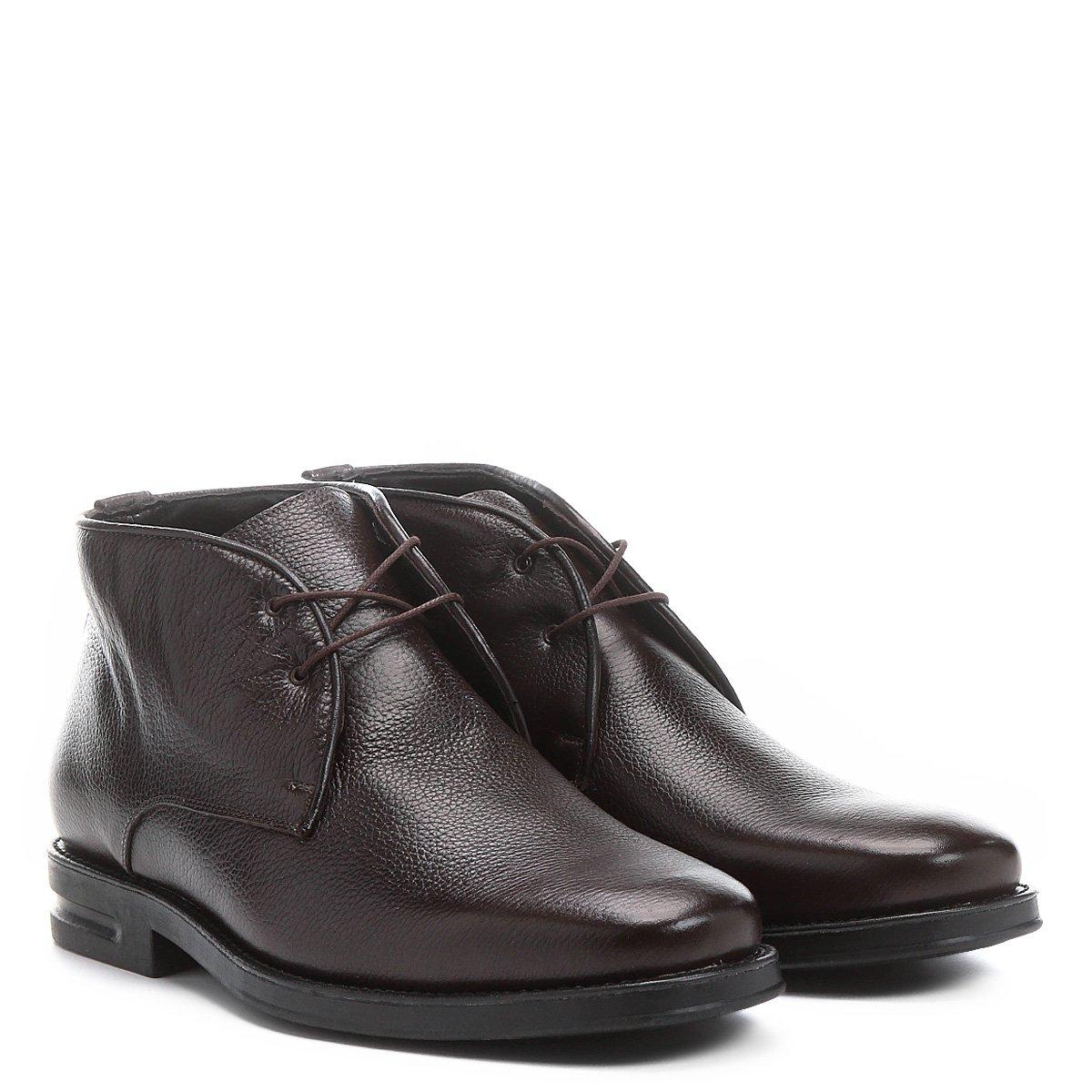 214ad6537c Sapato Conforto Couro Shoestock Cano Alto