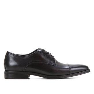 Sapato Couro Social Shoestock Cadarço Bico Quadrado Masculino