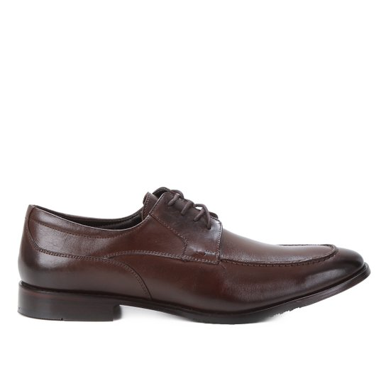 Sapato Social Couro Shoestock Básico Masculino - Café