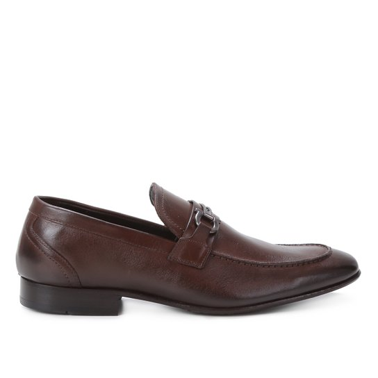 Sapato Social Couro Shoestock Bridão Masculino - Café