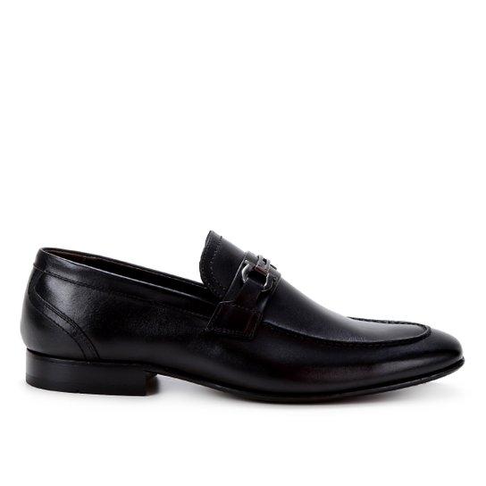Sapato Social Couro Shoestock Bridão Masculino - Preto