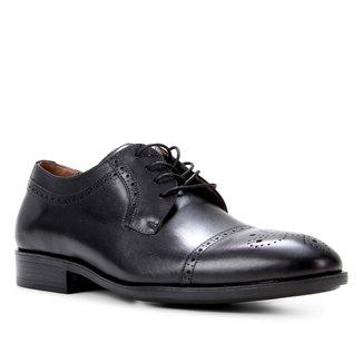 Sapato Social Couro Shoestock Brogue Masculino
