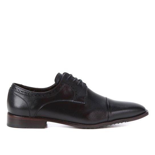 Sapato Social Couro Shoestock Brogues Masculino - Preto