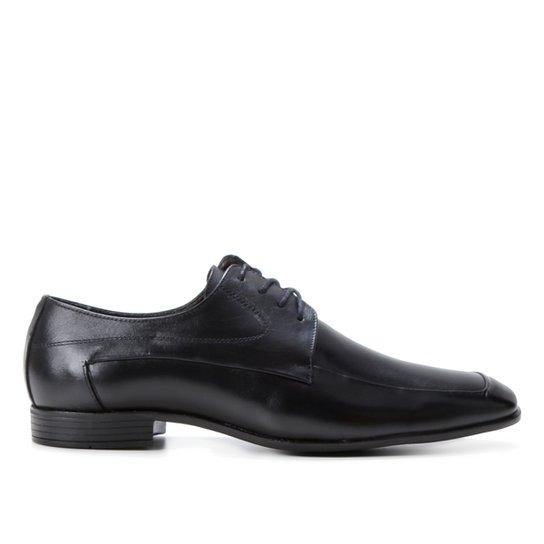 Sapato Social Couro Shoestock Cadarço Masculino - Preto