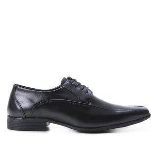 Sapato Social Couro Shoestock Cadarço Recorte Masculino