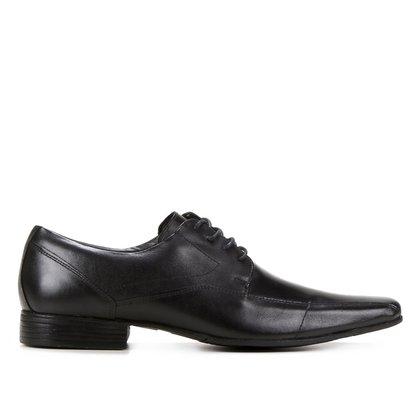 Sapato Social Couro Shoestock Cadarço Recortes Masculino