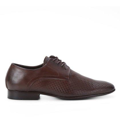 Sapato Social Couro Shoestock Cobra Cadarço Masculino