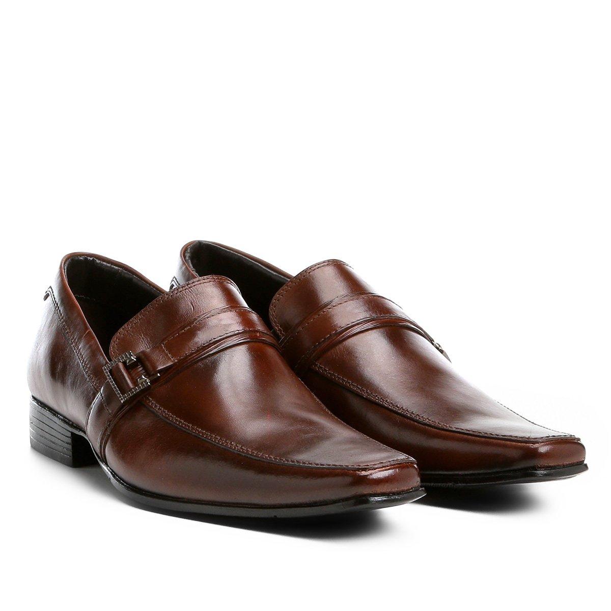 ccda73f06 Sapato Social Couro Shoestock Fivela Masculino - Marrom | Shoestock