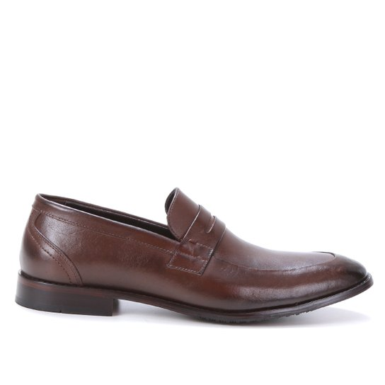 Sapato Social Couro Shoestock Gravata Masculino - Café