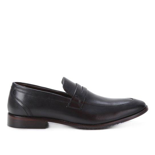 Sapato Social Couro Shoestock Gravata Masculino - Preto