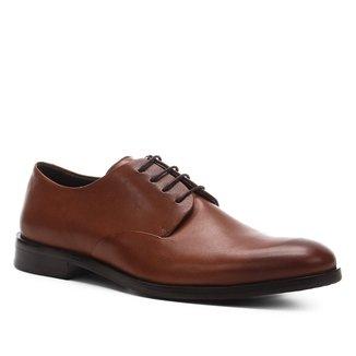 Sapato Social Couro Shoestock Liso Cadarço Masculino