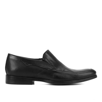 Sapato Social Couro Shoestock Liso Elástico Masculino