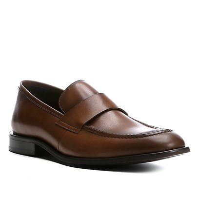 adb6550959 Sapato Social Couro Shoestock Loafer Masculino