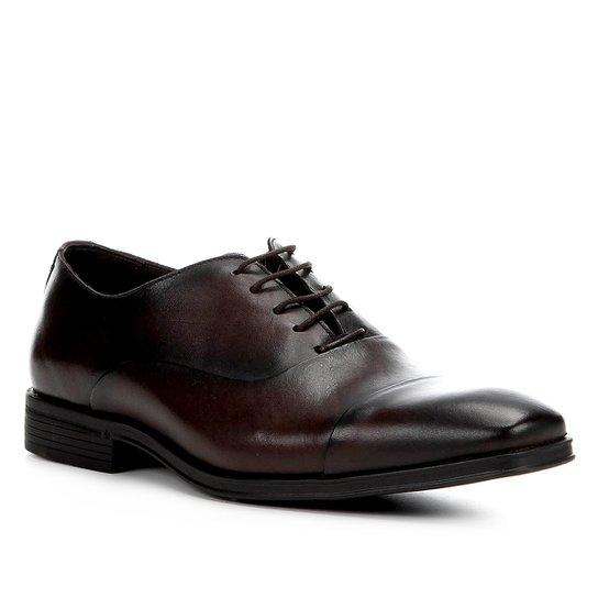 Sapato Social Couro Shoestock Tradicional Masculino - Café