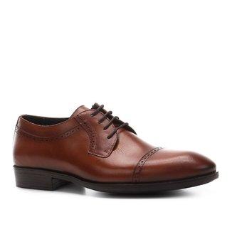 Sapato Social Shoestock Couro Brogues Masculino