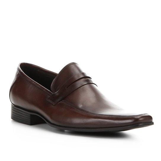 Sapato Social Shoestock Detalhe Gravata Clássico Masculino - Café