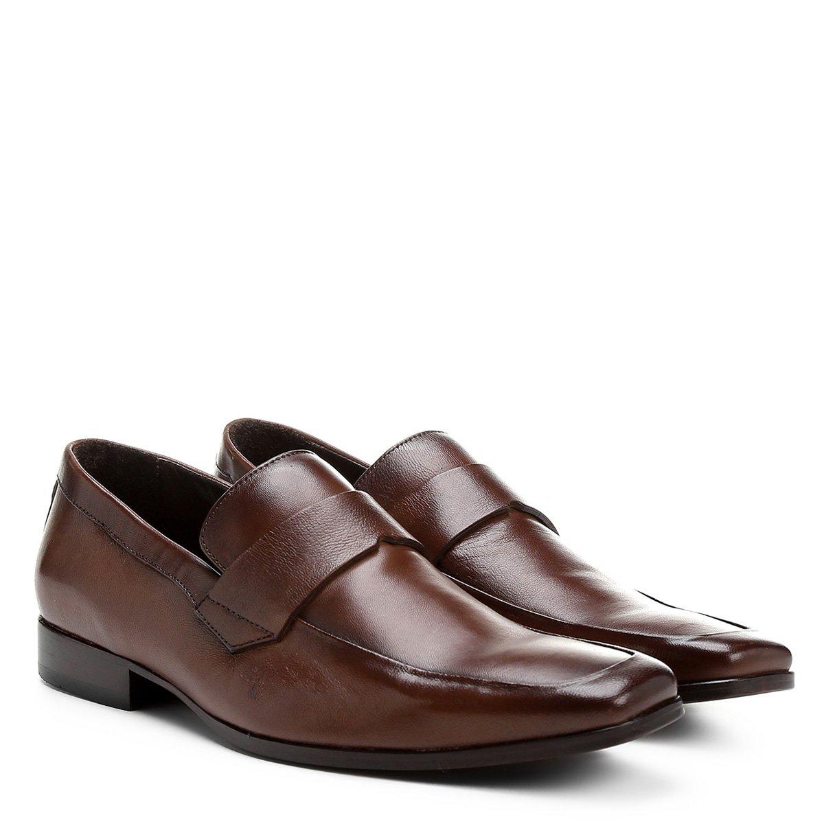 c703d4643d Sapato Social Shoestock Sola Couro
