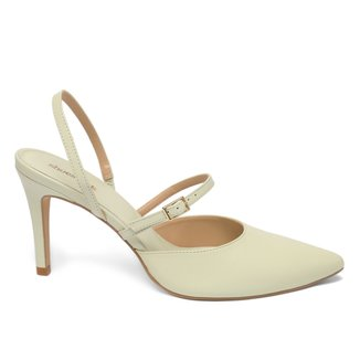 Scarpin Couro Shoestock Classic Tira Salto Alto