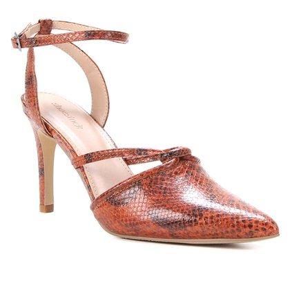 Scarpin Couro Shoestock Cobra Feeling Salto Alto