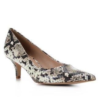 Scarpin Couro Shoestock Cobra Salto Médio